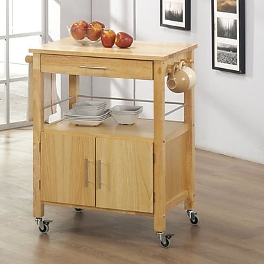 Sunset Trading Vancouver Kitchen Cart w/ Butcher Block Top