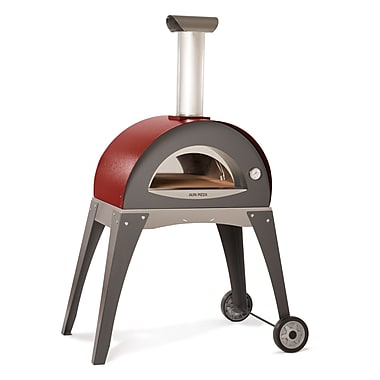 Alfa Pizza Forno Ciao Wood Burning Pizza Oven; Red