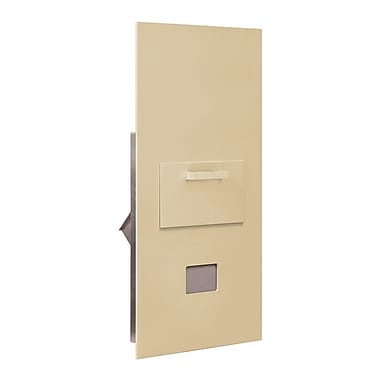 Salsbury Industries 1 Unit High 4B Horizontal Mailbox Parcel Locker; Sandstone