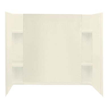 Sterling by Kohler Accord 3-Piece 32'' x 60'' x 55.25'' Wall Set w/ Age-In-Place Backers; Biscuit