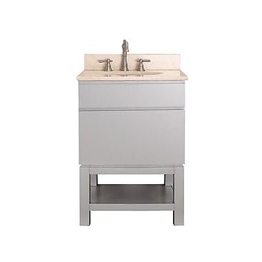 Avanity Tribeca 25'' Single Bathroom Vanity Set; Galala Beige Marble