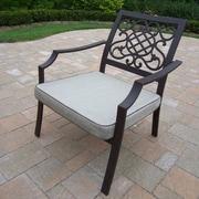 Oakland Living Stone Art Arm Chair w/ Cushion (Set of 4)