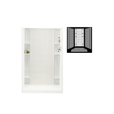 Sterling by Kohler Ensemble 1-Piece 36'' x 72.5'' Back Wall; Biscuit