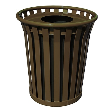 Witt Wydman Receptacle 36 Gallon Trash Can; Brown