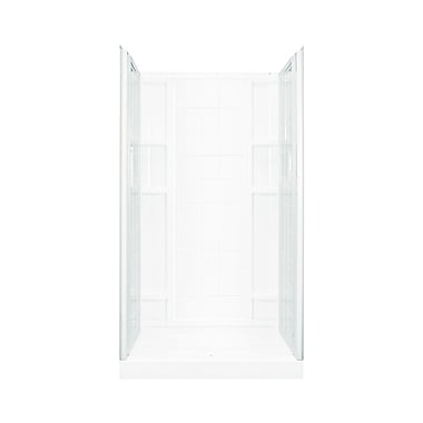 Sterling by Kohler Ensemble 2-Piece 48'' x 77'' End Wall Set w/ Age-In-Place Backers; White