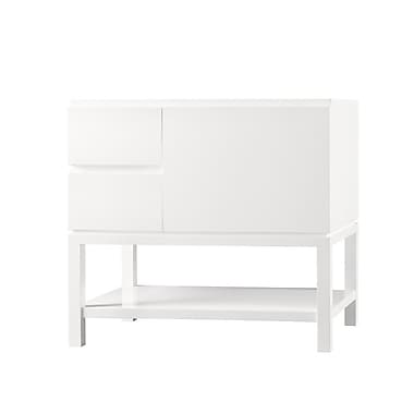 Ronbow Contempo Chloe Wood Cabinet Vanity Glossy White Base