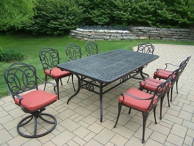 Oakland Living Berkley 9 Piece Dining Set w/ Cushions