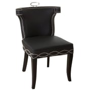 Global Views Be Seated in Chic Comfort Casino Genuine Leather Upholstered Dining Chair