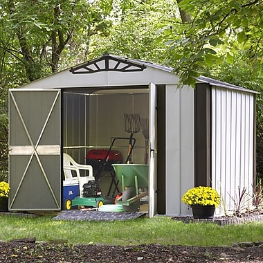Arrow Designer Series 10 ft. 3 in. W x 8 ft. 4 in. D Metal Storage Shed