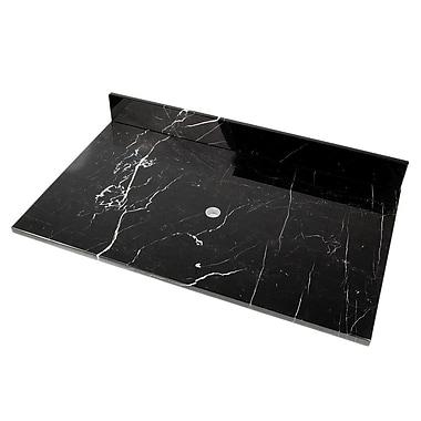 D'Vontz 31'' Single Bathroom Vanity Top; Strata Marble