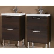Iotti by Nameeks Luna 19'' Bathroom Vanity Base; Wenge