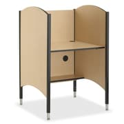 Smith Carrel Wood Adjustable Height Study Carrel; Gray Nebula