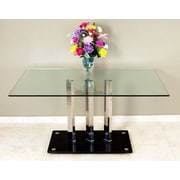 Transdeco Dining Table; Clear Glass