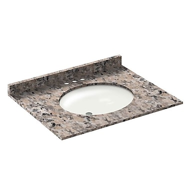 LessCare Vanity Top w/ Back Splash; Burlywood