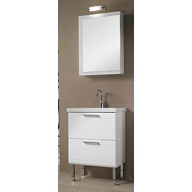 Iotti by Nameeks Luna 23'' Single Bathroom Vanity Set w/ Mirror; Teak