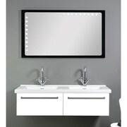 Iotti by Nameeks Fly 49'' Double Bathroom Vanity Set w/ Mirror; Glossy White
