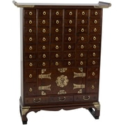 Oriental Furniture Korean 49 Drawer Apothecary Accent Chest