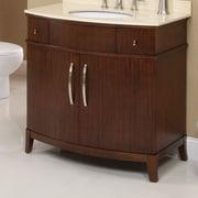 DecoLav Alexandra 36'' Bathroom Vanity Base; Mahogany