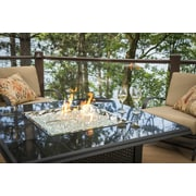 The Outdoor GreatRoom Company Napa Valley Crystal Fire Pit Table; Black