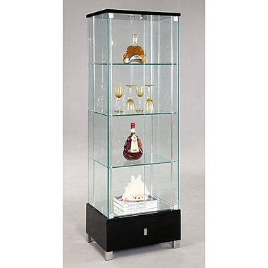 Chintaly Lighted Curio Cabinet