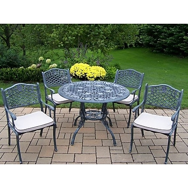 Oakland Living Tea Rose 5 Piece Dining Set w/ Cushions