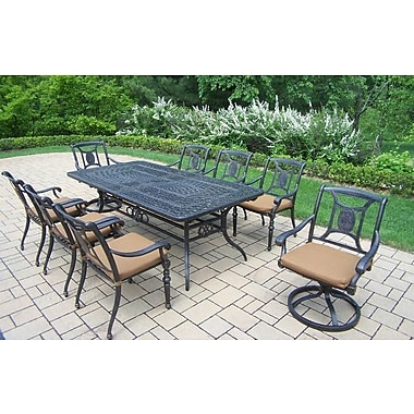 Oakland Living Victoria 9 Piece Dining Set w/ Cushions