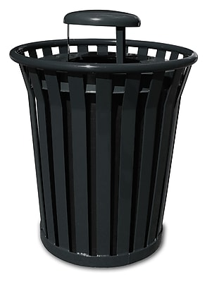 Witt Wydman Receptacle 36 Gallon Trash Can; Black