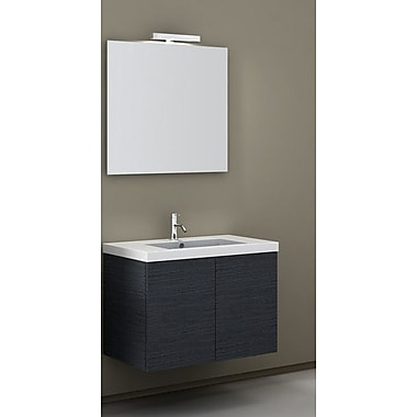 Iotti by Nameeks Space 32'' Single Wall Mount Bathroom Vanity Set w/ Mirror; Glossy White