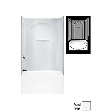 Sterling by Kohler Acclaim 3-Piece 30'' x 60'' x 55.5'' Wall Set w/ Age-in-Place Backers; White