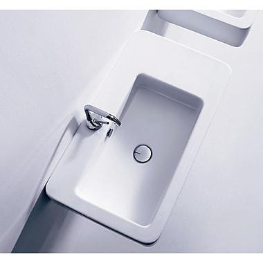 WS Bath Collections Ego Ceramic 30'' Wall Mount Bathroom Sink w/ Overflow
