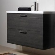 Iotti by Nameeks Luna 30'' Bathroom Vanity Base; Teak
