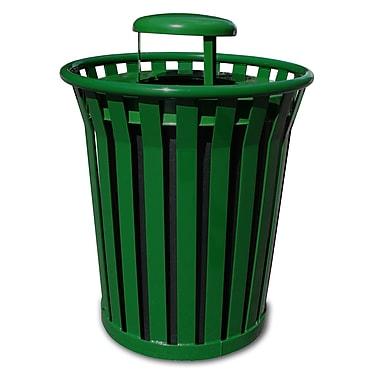 Witt Wydman Receptacle 36 Gallon Trash Can; Green