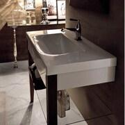 WS Bath Collections Bentley 34'' Single Wood Bathroom Vanity Set; Three Hole