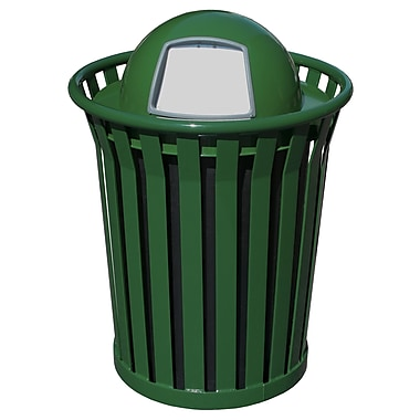 Witt Wydman Receptacle 36 Gallon Swing Top Trash Can; Green