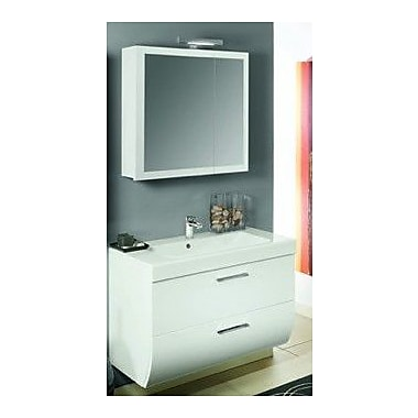 Iotti by Nameeks New Day 38'' Single Wall Mounted Bathroom Vanity Set w/ Mirror; Natural Oak