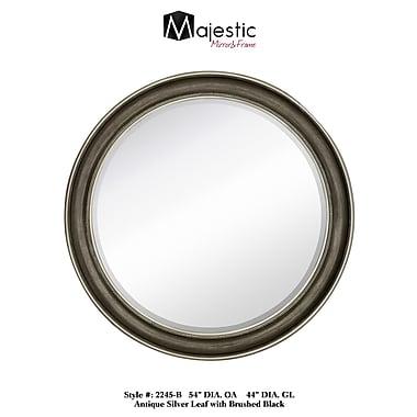 Majestic Mirror Smooth Round Stylish Beveled Glass Wall Mirror