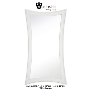 Majestic Mirror Large Contemporary Warped Modern White Lacquer Wall Mirror