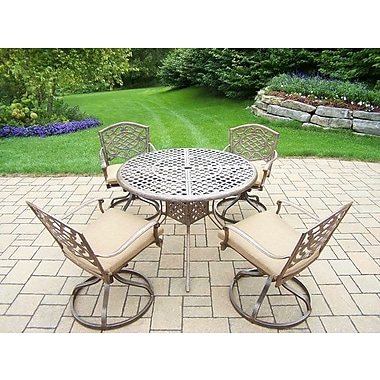 Oakland Living Mississippi 5 Piece Dining Set w/ Cushions