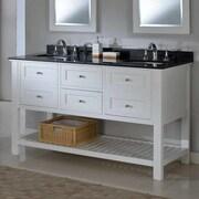 Direct Vanity Sink Mission Spa 60'' Double Bathroom Vanity Set; Black Granite