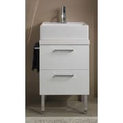 Iotti by Nameeks Aurora 19'' Bathroom Vanity Base; Gray Oak