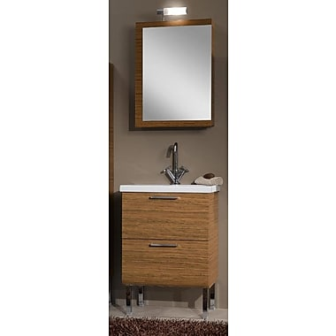 Iotti by Nameeks Luna 24'' Single Bathroom Vanity Set w/ Mirror; Glossy White