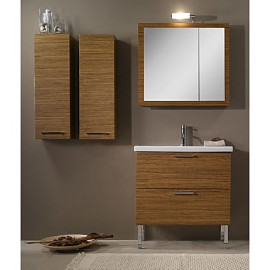 Iotti by Nameeks Luna 32'' Single Bathroom Vanity Set w/ Mirror; Wenge