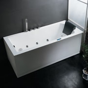 Ariel Bath Platinum 70'' x 25'' Whirlpool Bathtub; Right