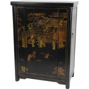 Oriental Furniture Bar Cabinet w/ Wine Storage