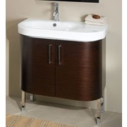Iotti by Nameeks Rondo 32'' Single Bathroom Vanity Set; Gray Oak
