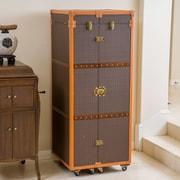 Home Loft Concepts Brisco Rolling Bar Cabinet w/ Wine Storage