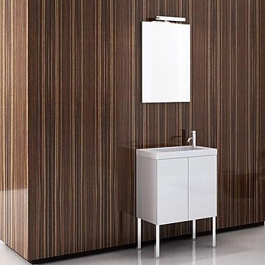 Iotti by Nameeks Happy Day 24'' Single Footed Bathroom Vanity Set w/ Mirror; Wenge