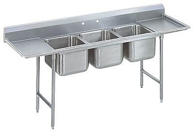 Advance Tabco T-9 Series Single 3 Compartment Scullery Sink; 42'' H x 103'' W x 27'' D