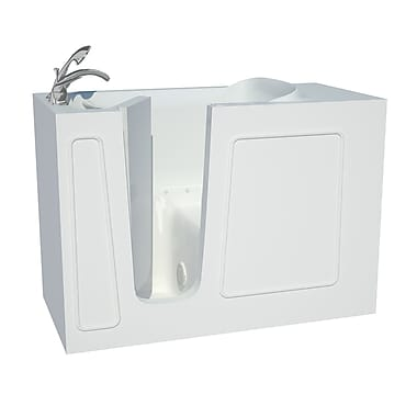 Therapeutic Tubs Captains Series 53'' x 26'' Air/Whirlpool Jetted Bathtub; Left