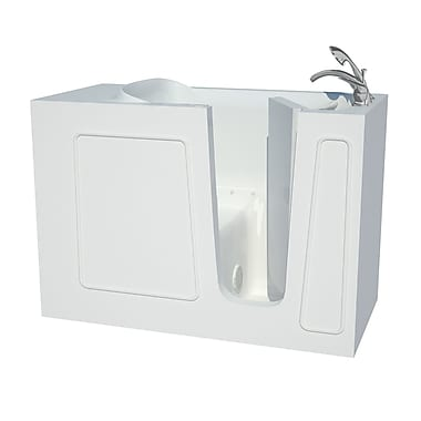 Therapeutic Tubs Captains Series 53'' x 26'' Air/Whirlpool Jetted Bathtub; Right
